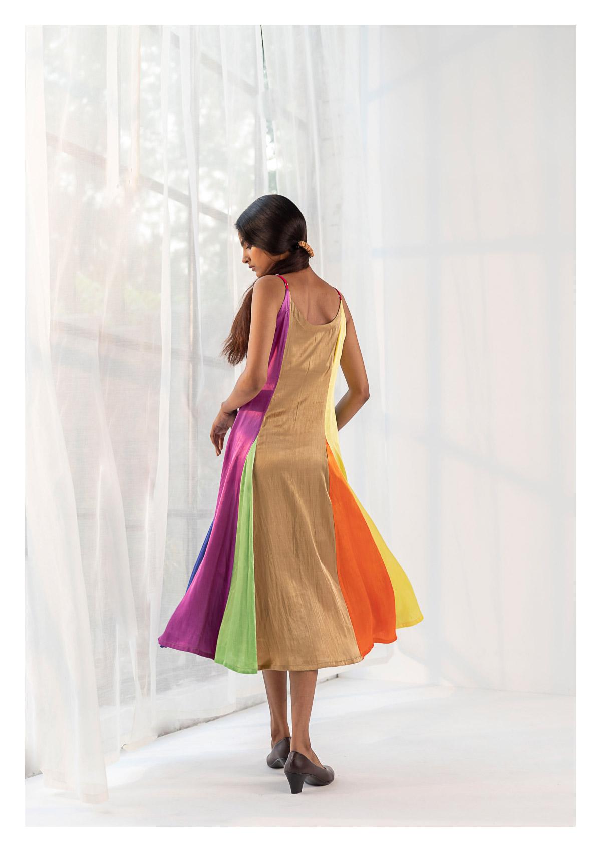 Olivia Multicolored Slip Dress