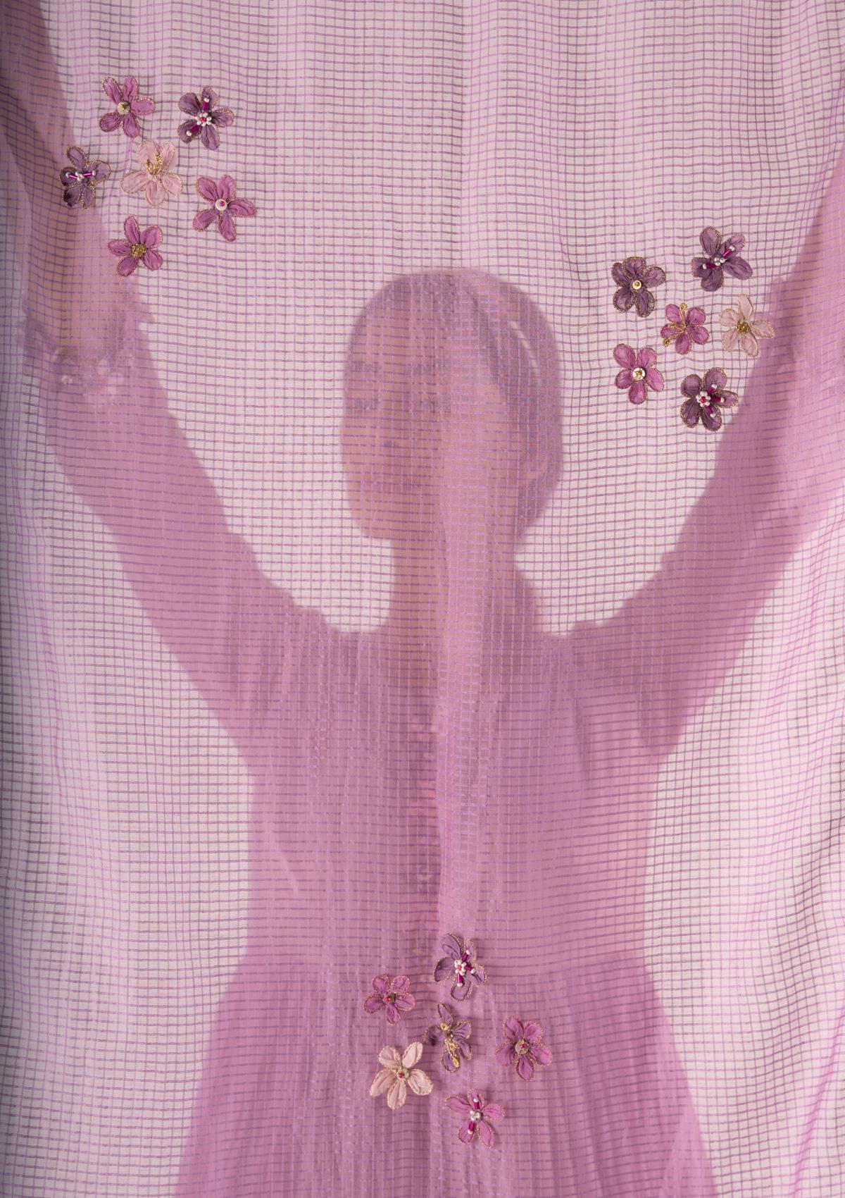 Hana Lavender Tissue Chanderi Stole
