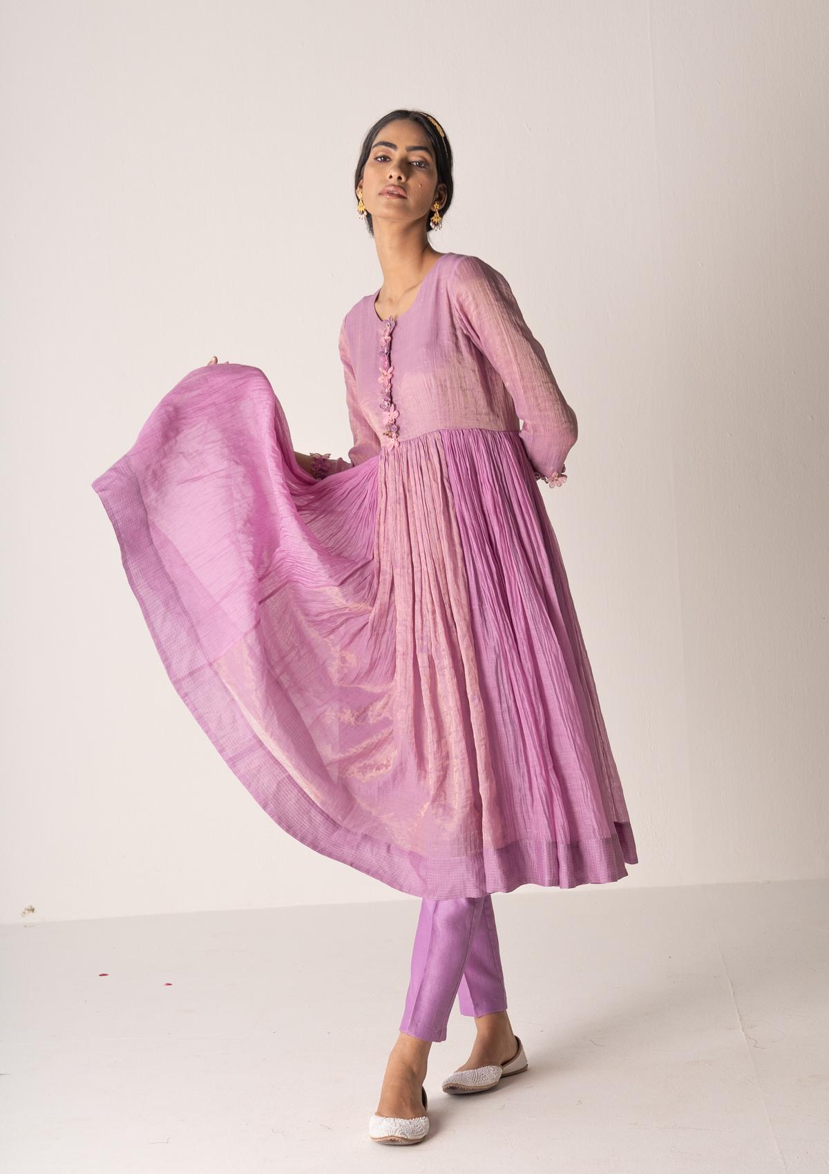 Machi Lavender Kurta Pants Set