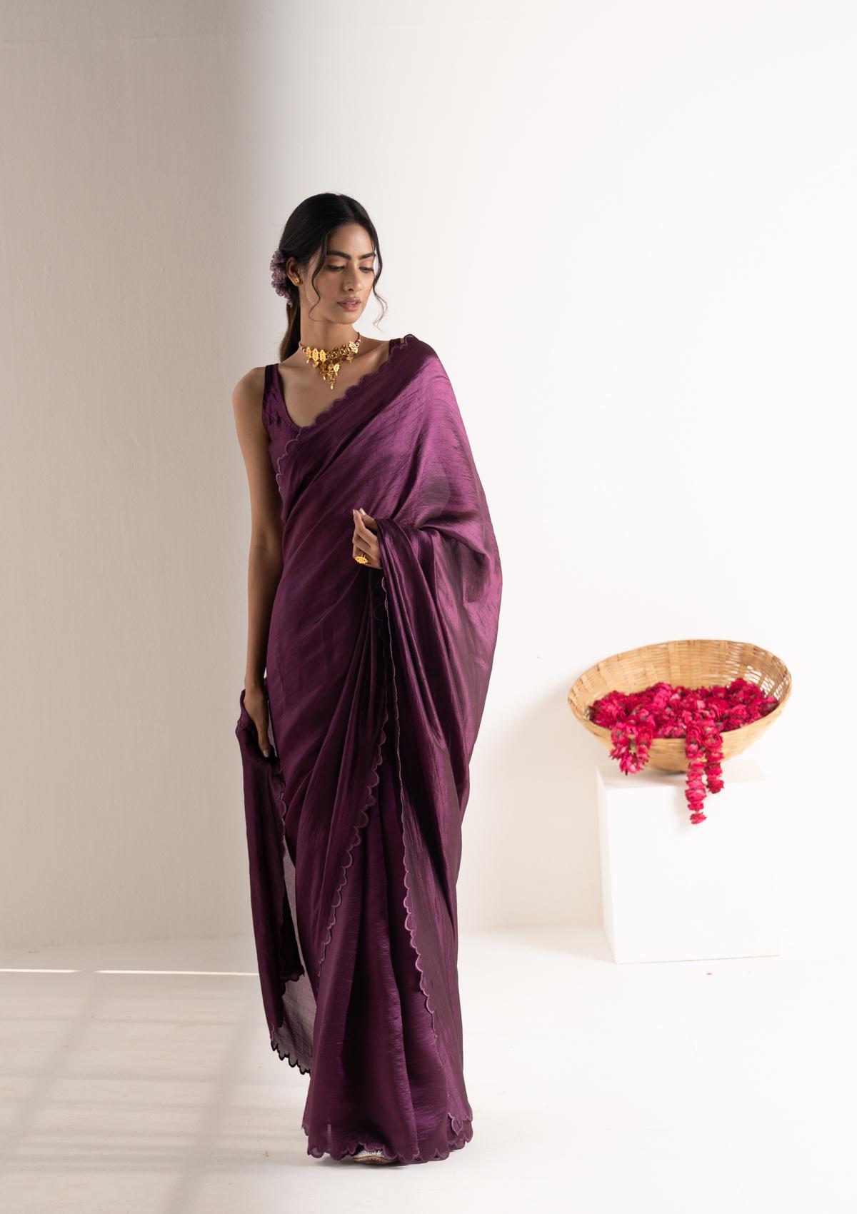 Mohi Plum Silk Saree
