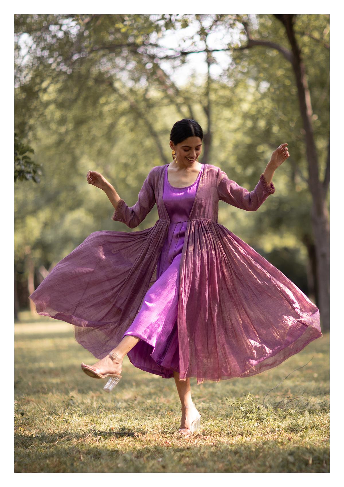 Rajas Purple Maxi Dress