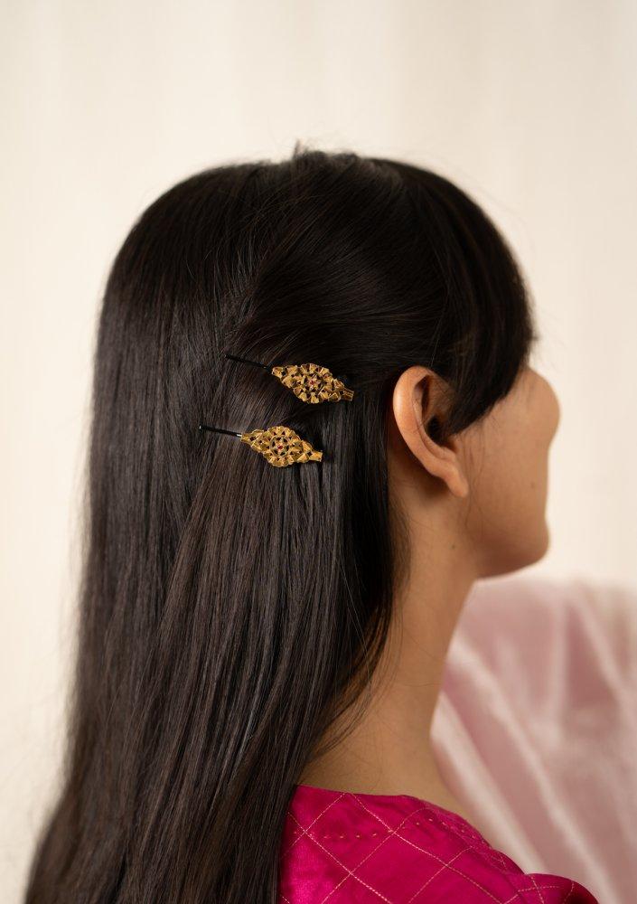 Eklavya Silver Hairpins - Set of 2