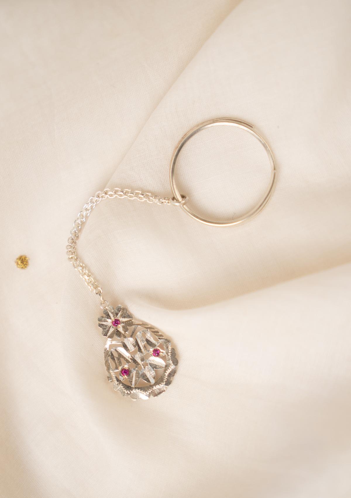 Samay Silver Keychain