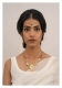 Rehnuma Gold Tone Silver Necklace & Earrings Set