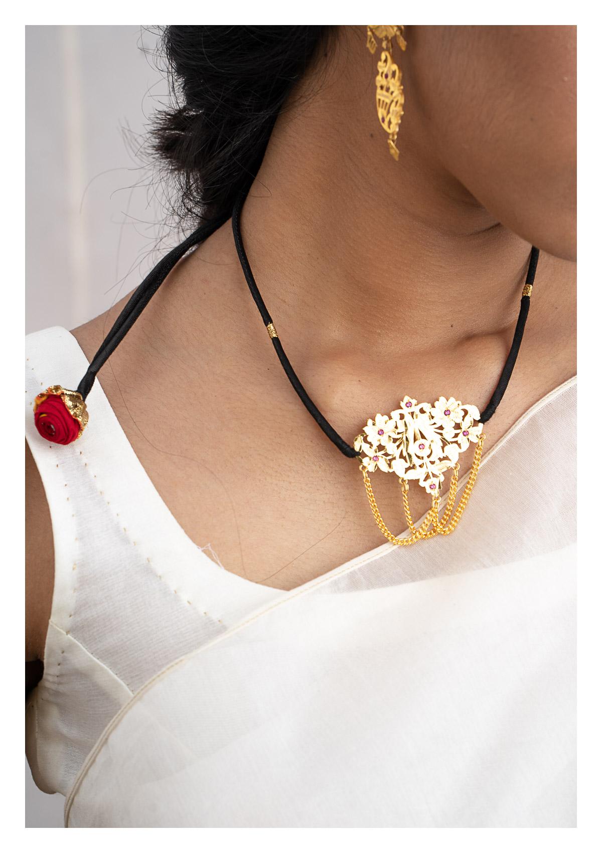 Sakina Gold Tone Silver Necklace