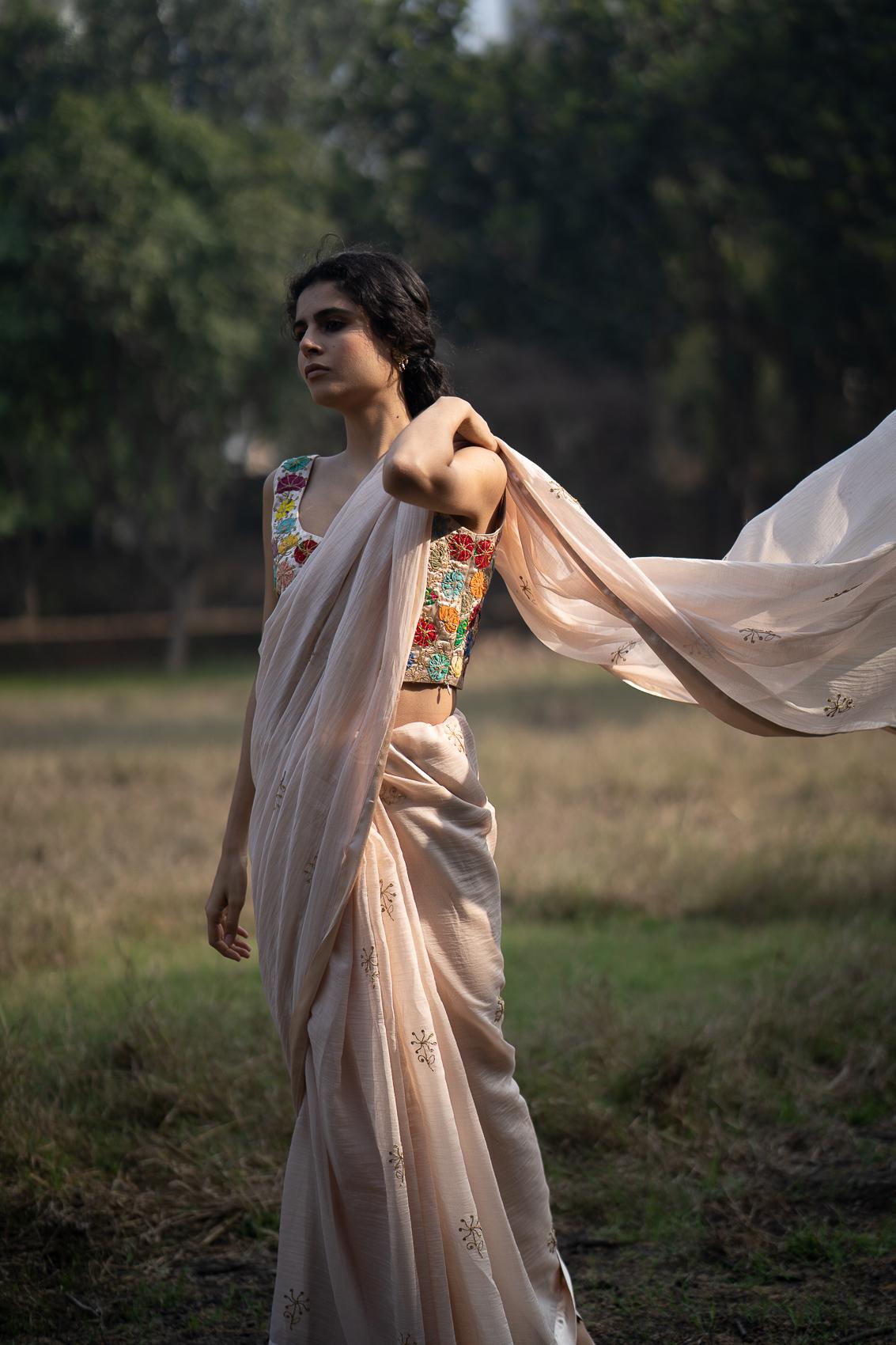 Sangi Sathi Chanderi Saree