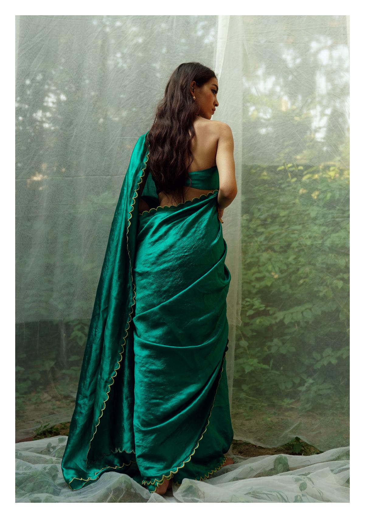 Savani Green Mulberry Silk Saree