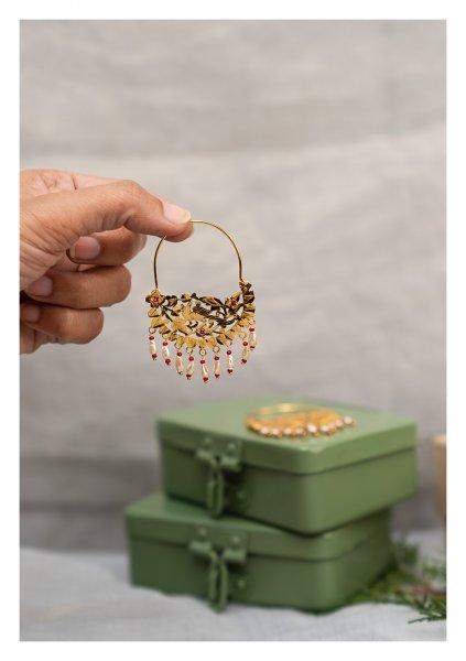 Shamli Gold Tone Silver Earrings