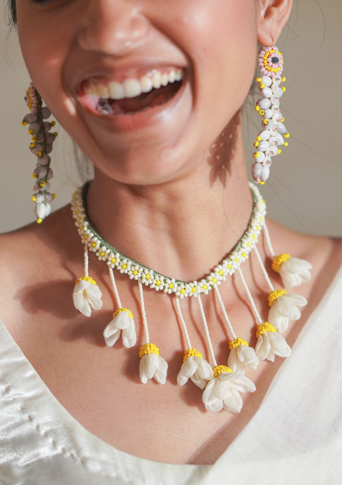 Lopa Tulsi bead Necklace