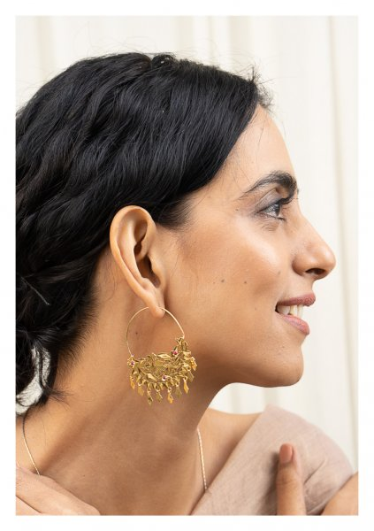 Sharmila Gold Tone Silver Earrings