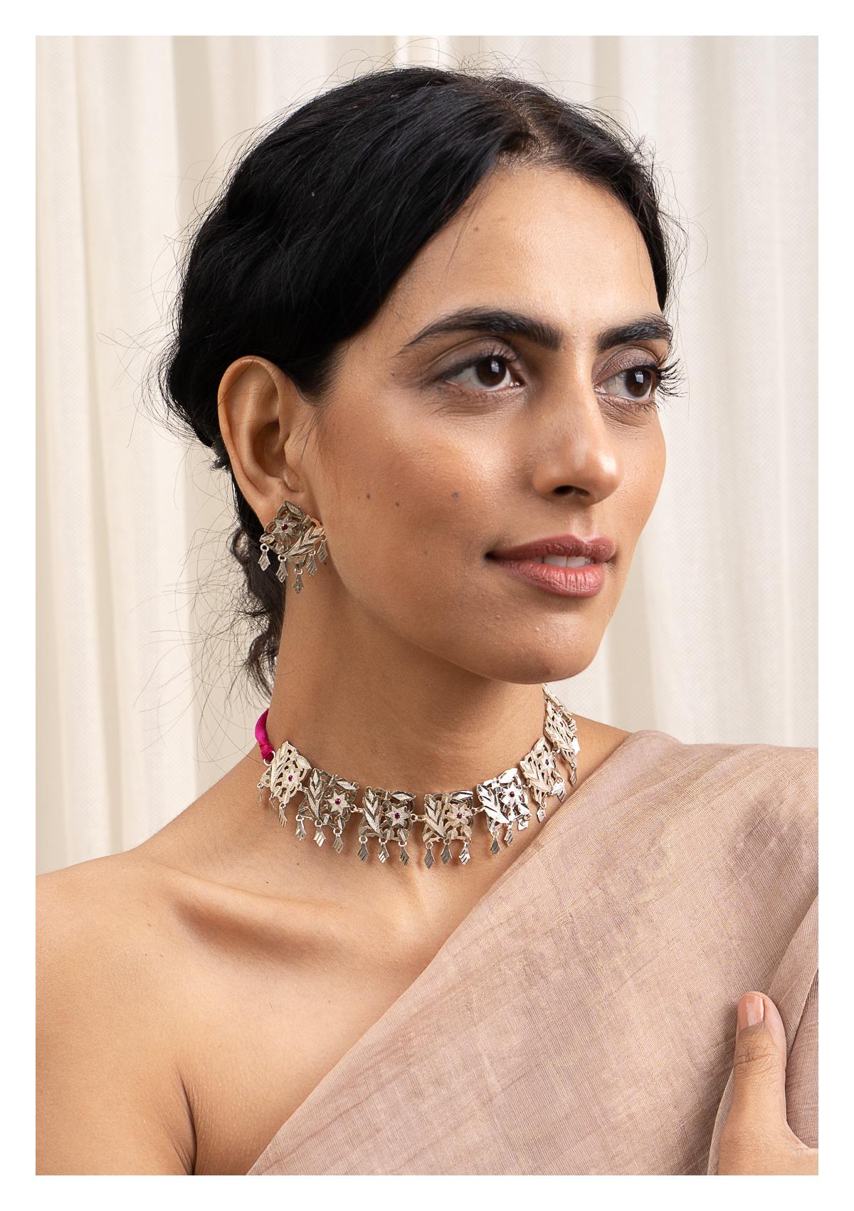 Shashi Handmade Silver Necklace