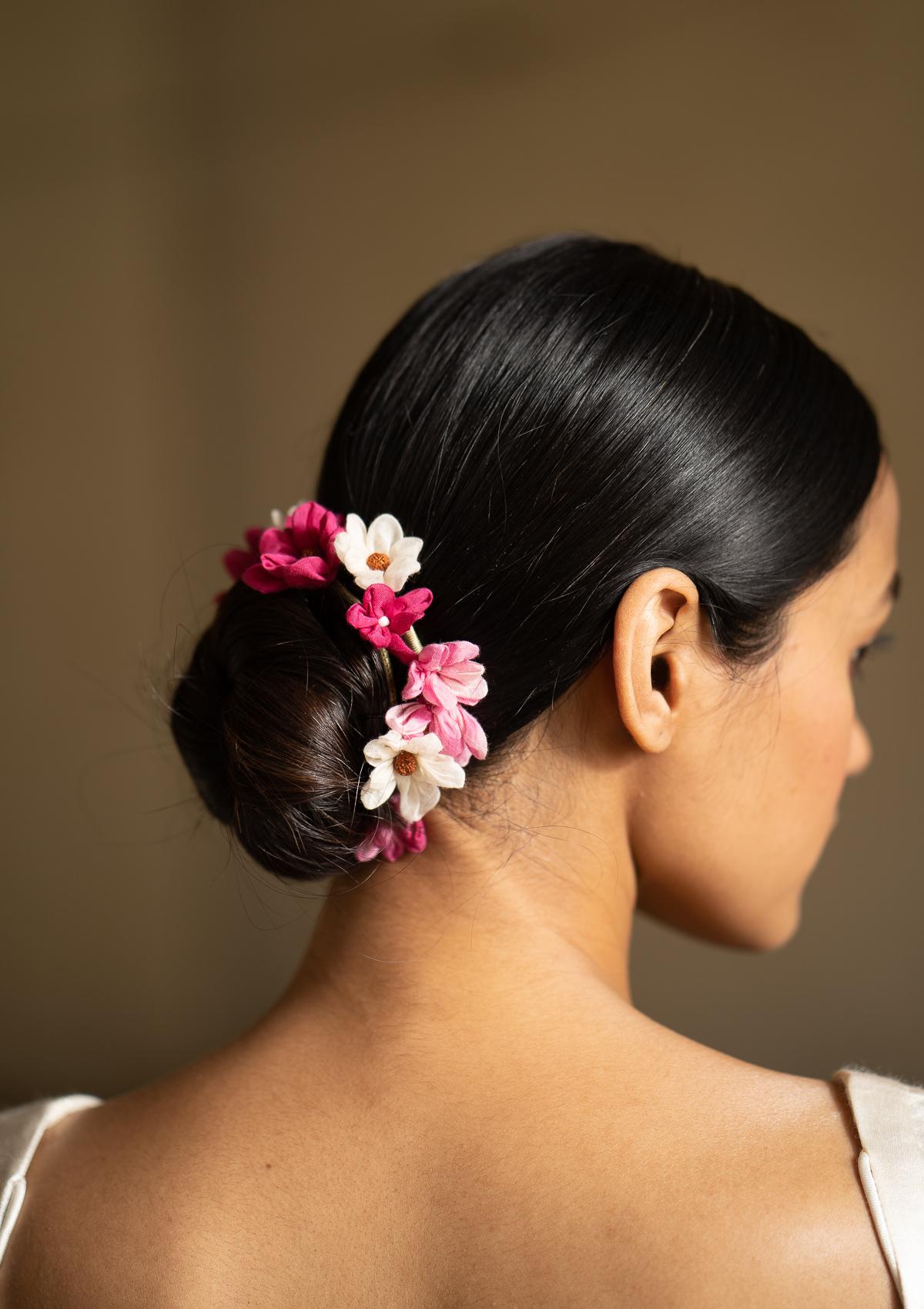 Sitar Pink Flower Hair Accessory
