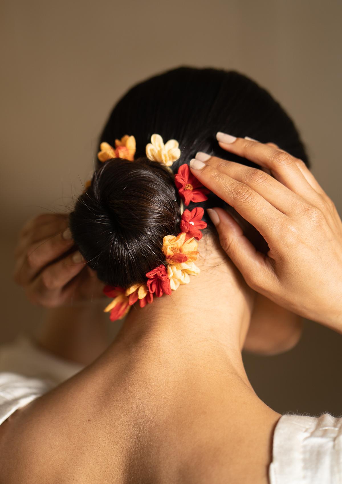 Tambura Red Flower Hair Accessory