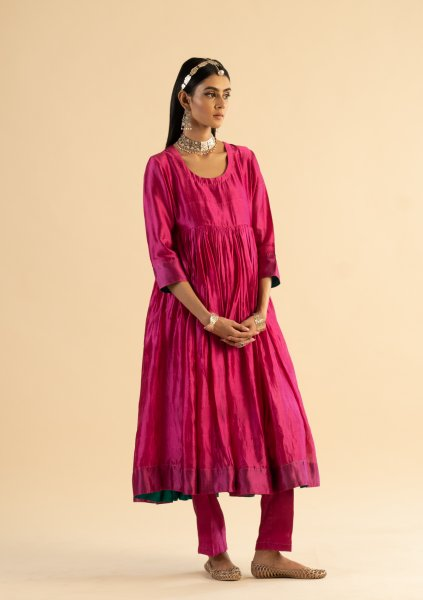 Madhubani Pink Kurta Pants Set