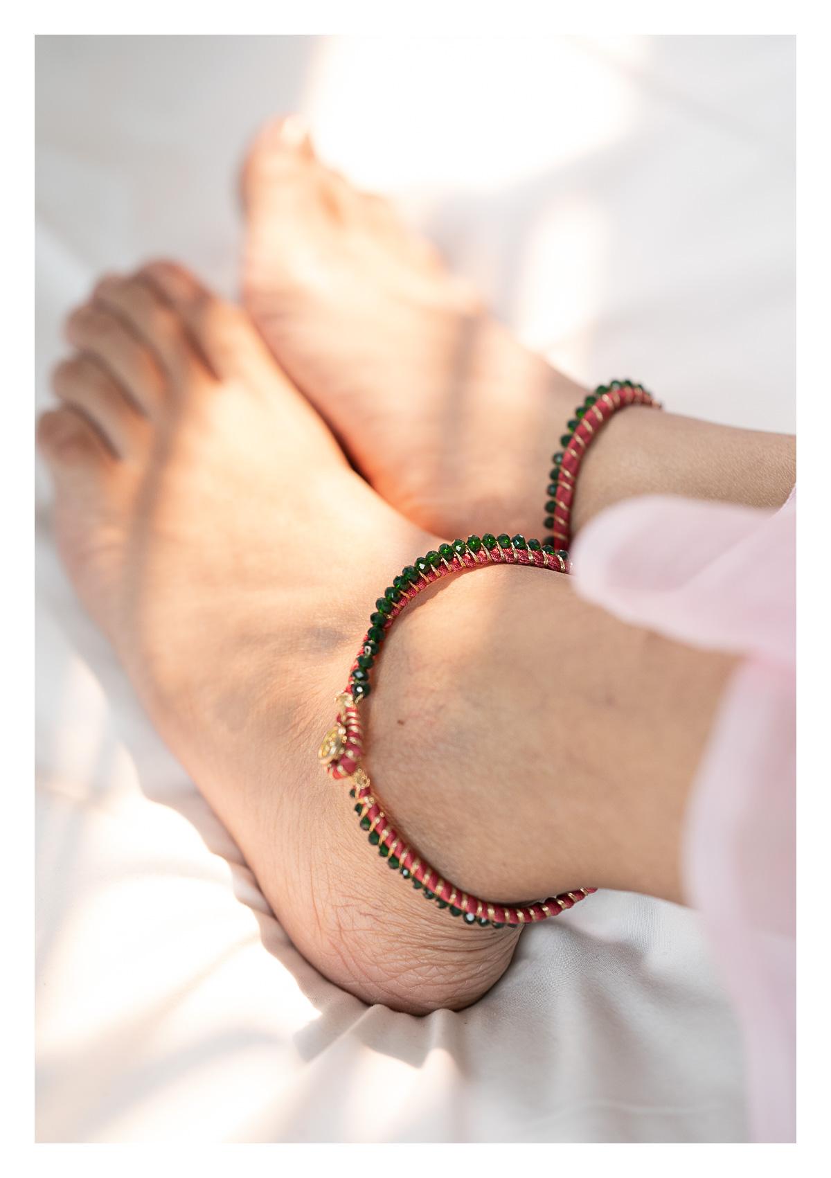 Tashi Bead Textile Anklets