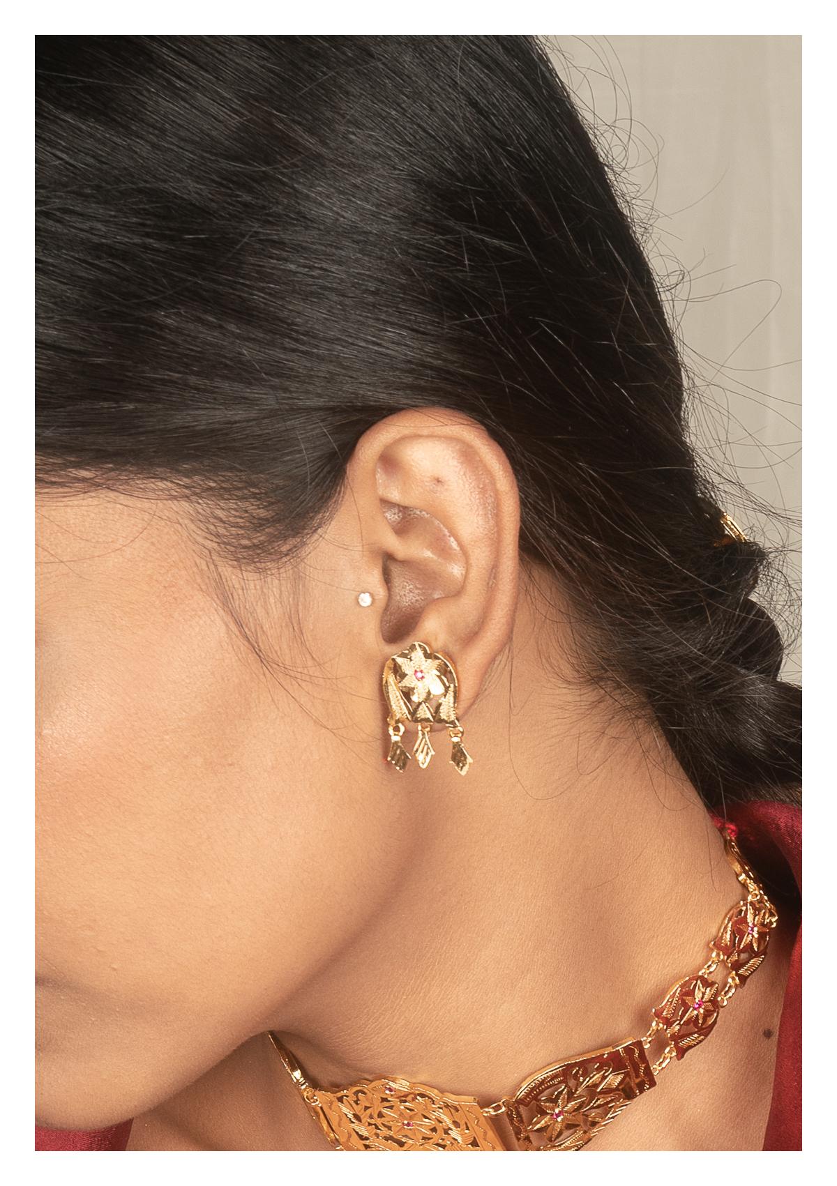 Tilla Gold Tone Silver Earrings
