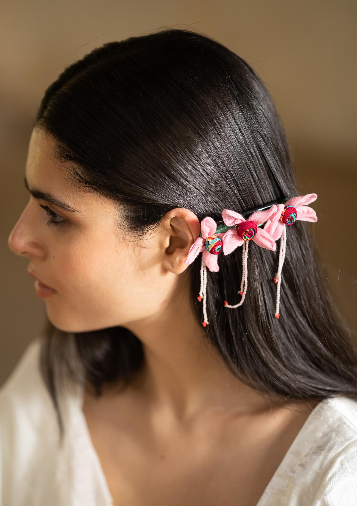 Trance Floral Comb Clip