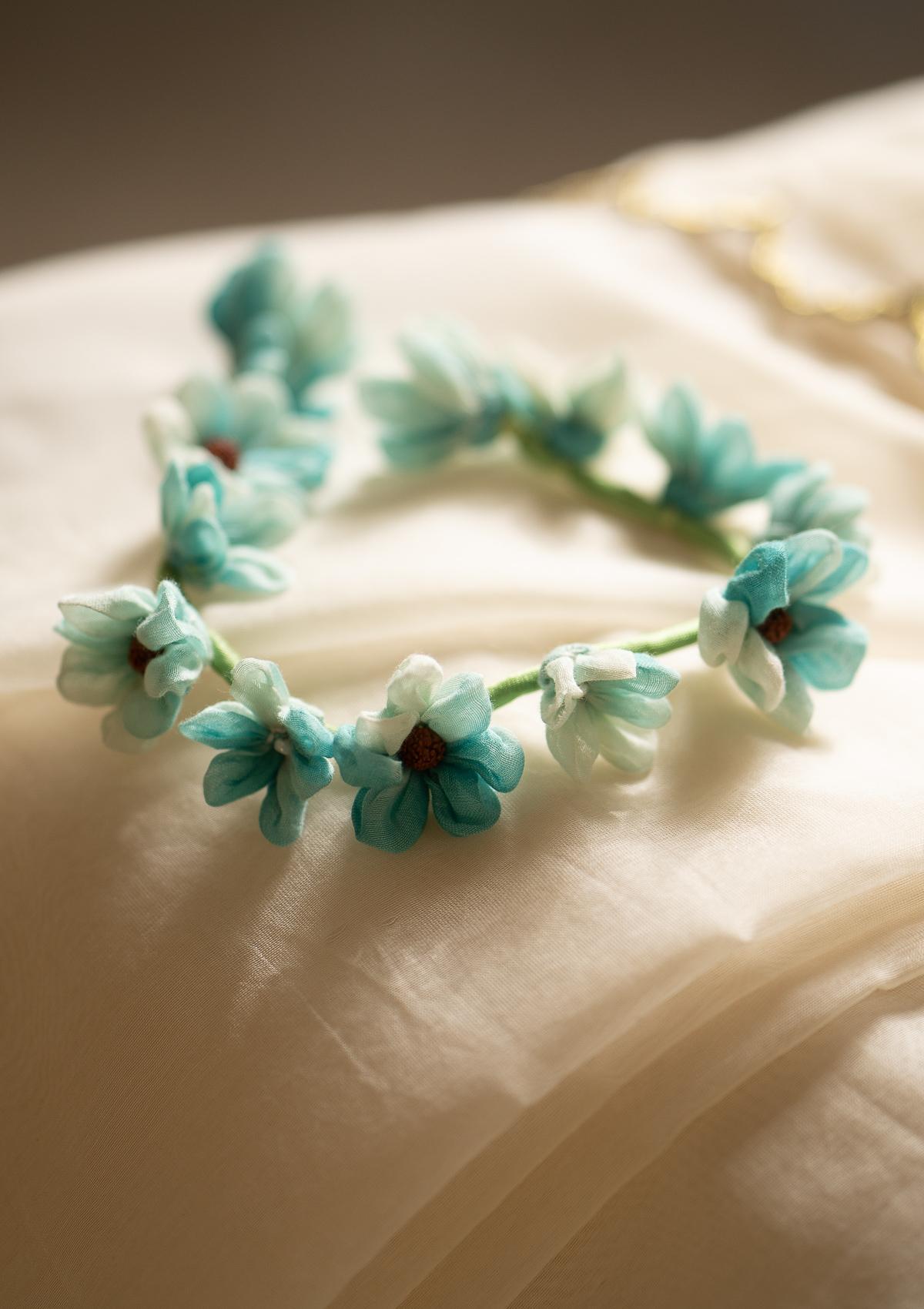 Veena Blue Flower Hair Accessory