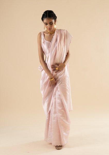 Warli Pink Silk Saree