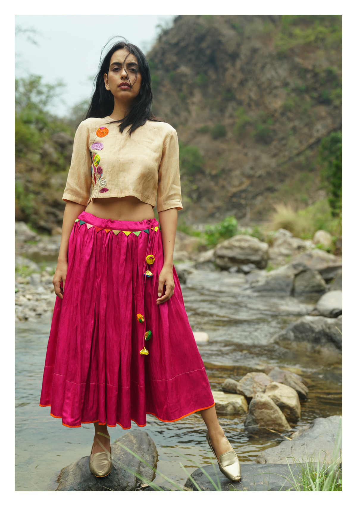 Wind Willow Chanderi Blouse