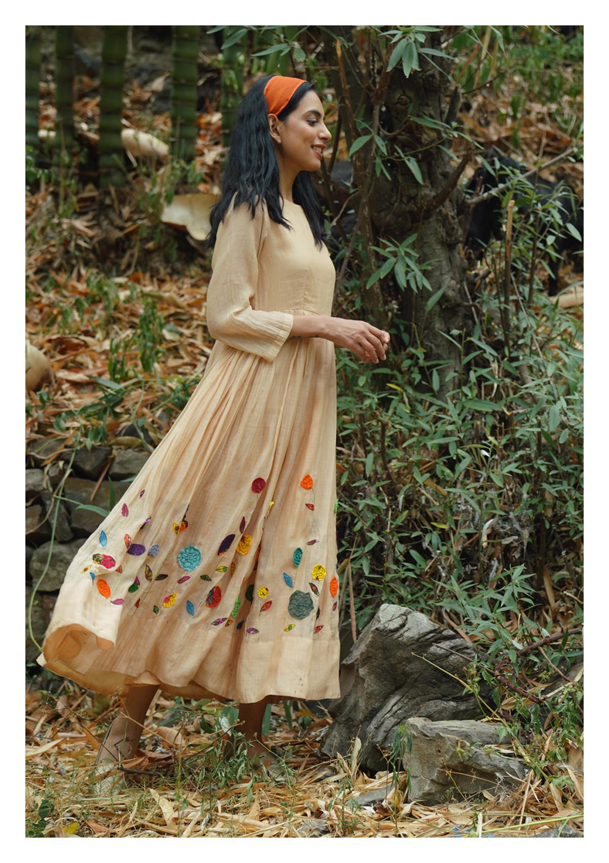 Lawn Butter Chanderi Dress