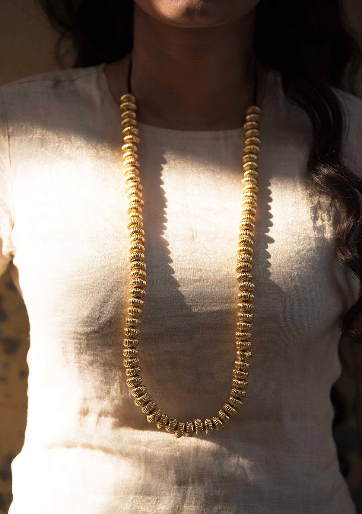 Badi Hoi Silver Gold Plated Necklace
