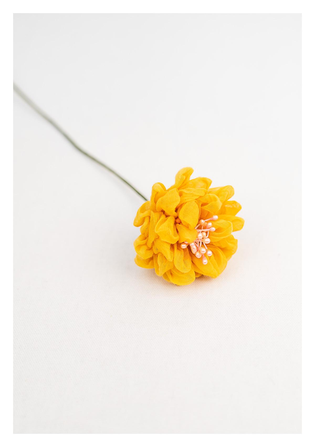 Tullipan Yellow Textile Flower Stick