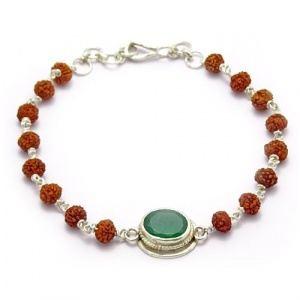 Rudraksha & Gem Bracelet For Virgo (Kanya)
