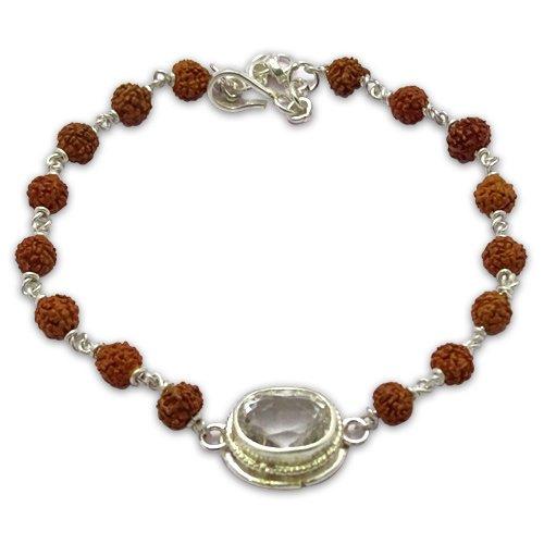 Rudraksha & Gem Bracelet For Taurus (Vrishabh)