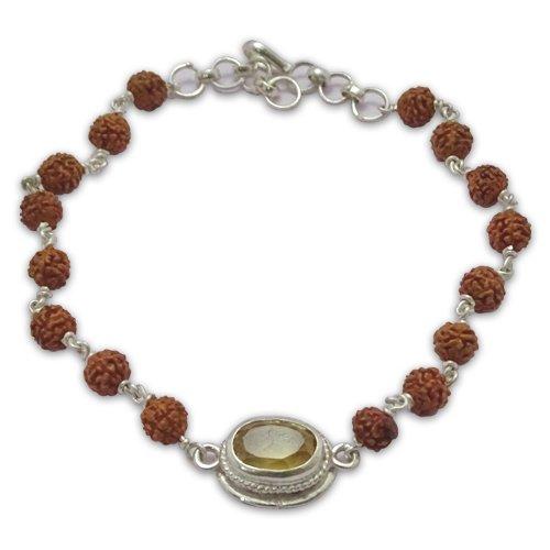 Rudraksha& Gem Bracelet For Pisces (Meen)