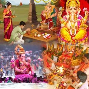 Ganesha Puja & Abhishekam on Ganesh Chaturthi