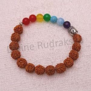 7 Chakras Rudraksha Bracelet