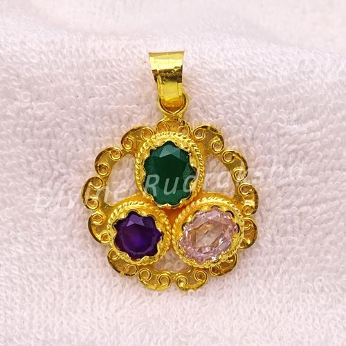 Golden plated Gems pendant for Virgo (Kanya)