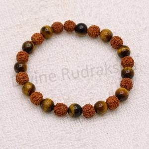 Tiger's Eye Rudraksha Bracelet