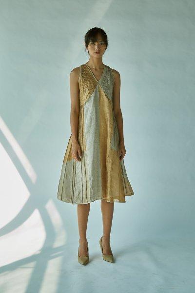 TISSUE SLEEVELESS DRESS