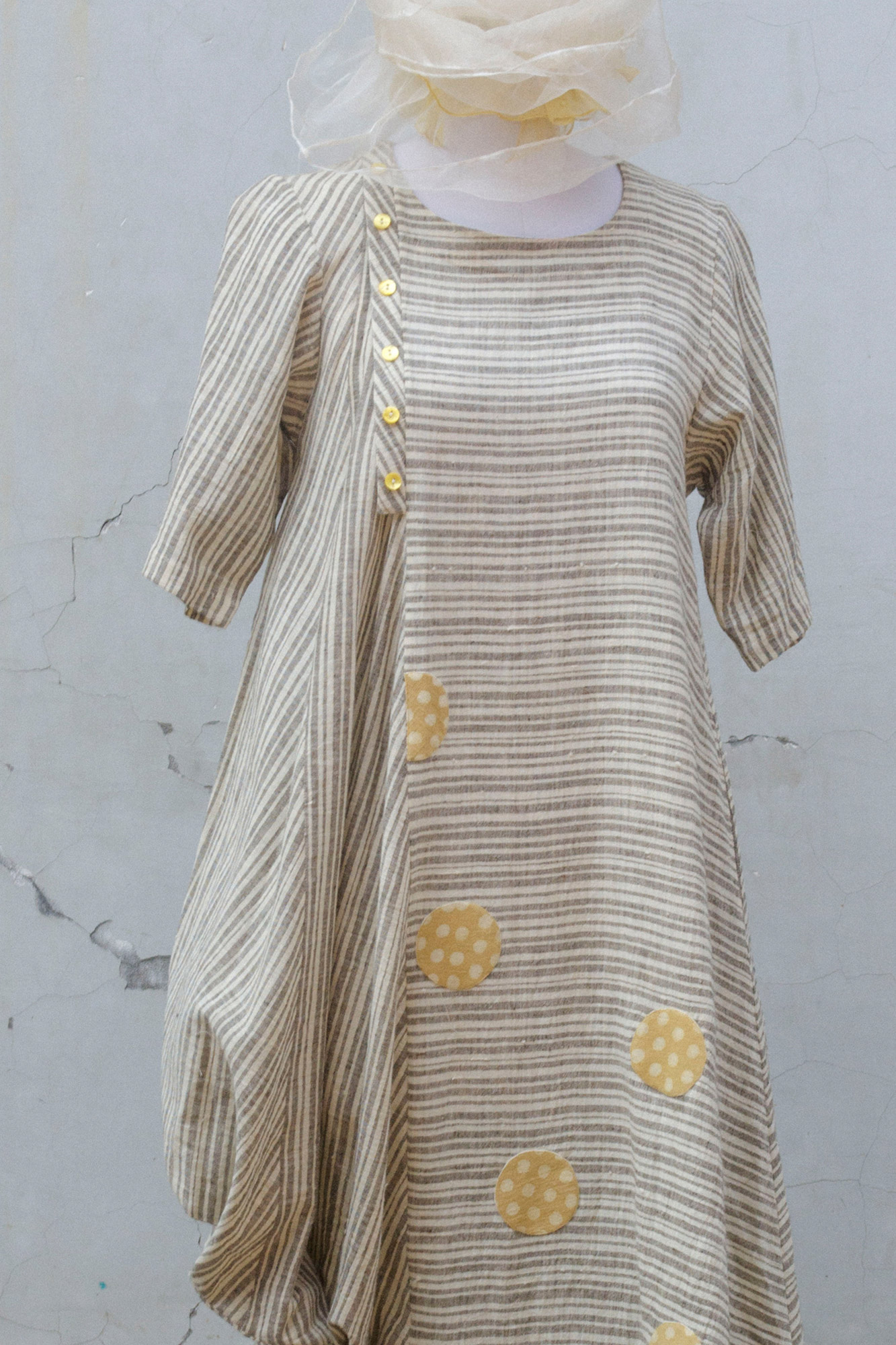 ONE SIDED COWL DRESS