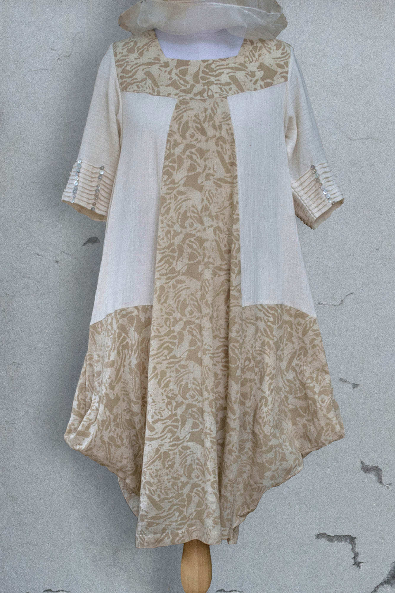 TWO SIDED COWL DRESS