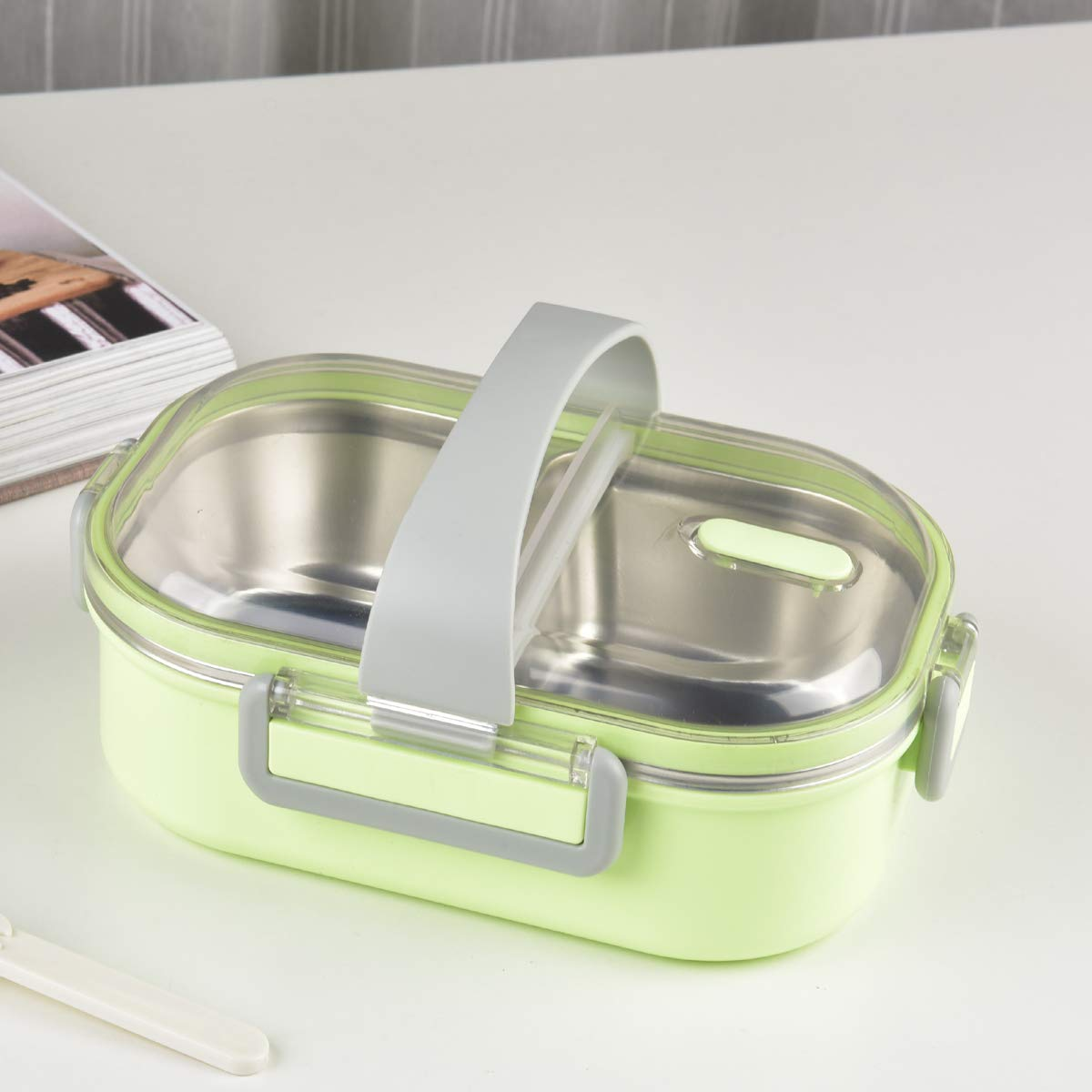 High Steel Lunch Box for Kids Storage Lunch Box with Handle