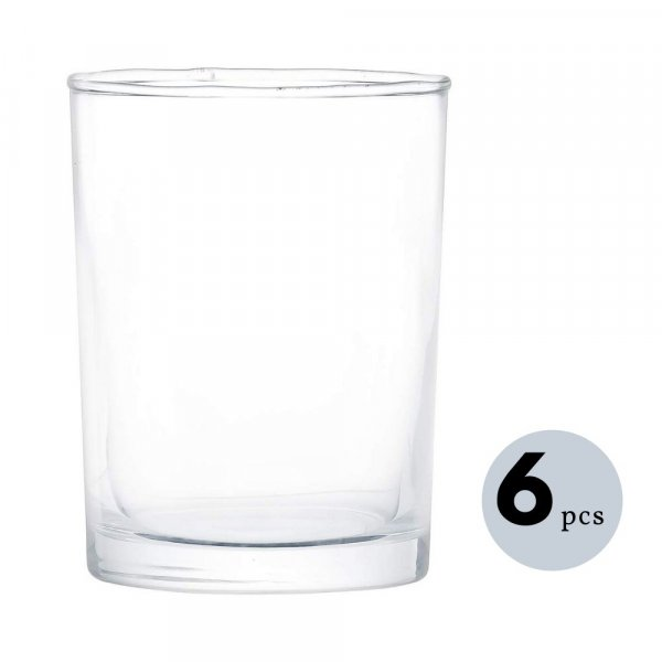 Clear Glass Juice Tumbler  - 230 ML, Set of 6