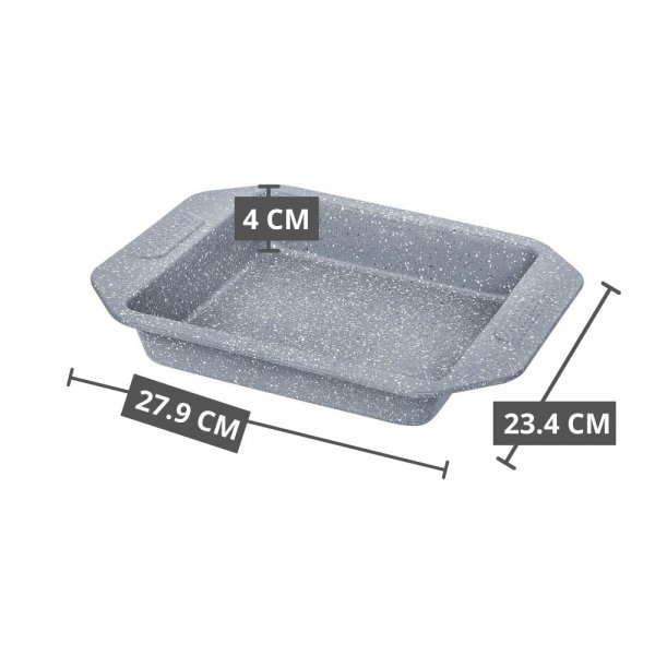 Carbon Steel Stone Ware Non-Stick Coated Baking Big Loaf Pan, Pizza Pan and Baking Dish- Set of 3