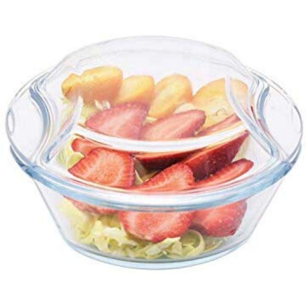Borosilicate Glass Microwave Safe Casserole - 1000ML