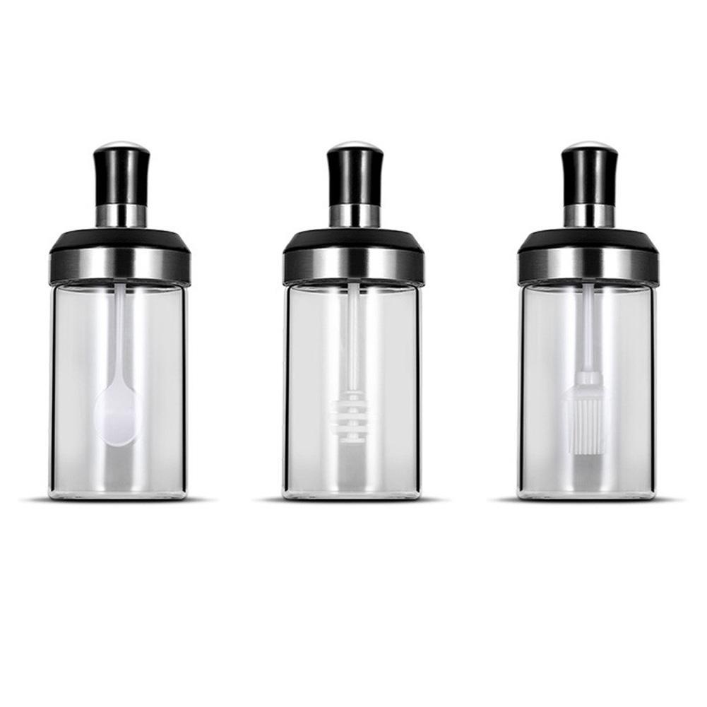 Borosilicate Glass Storage Honey Jar - 250ml, Set of 2