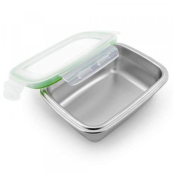 High Steel Rectangle Container with Lock Lid for Kitchen, Storage, Lunch Box - 2800ml