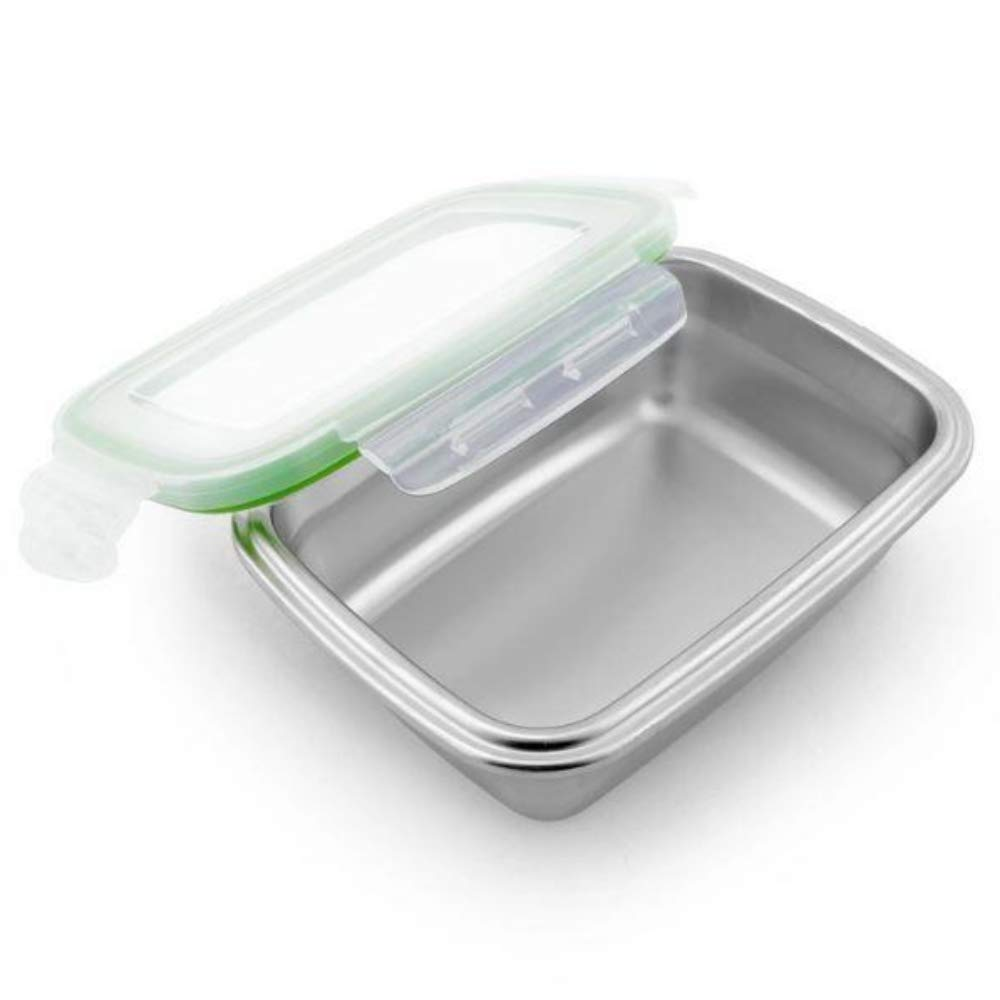 High Steel Rectangle Container with Lock Lid for Kitchen, Storage, Lunch Box - 3800ml