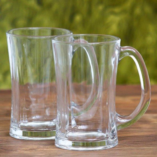 Clear Glass Beera Beer Mug 350 ml - Set of 3