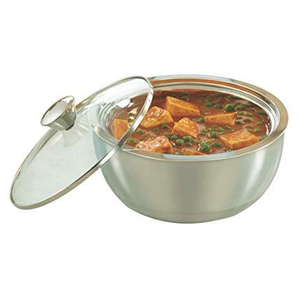Stainless Steel Curry Server Casserole - 500ml, 900ml, 1500ml, Set of 3