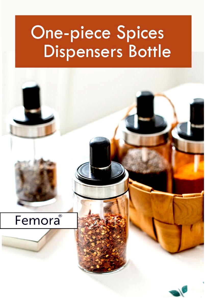 Borosilicate Glass Storage Pickle Jar with Spoon - 250ML-Set of 2
