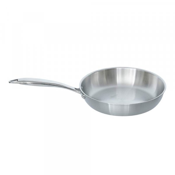 Tri-ply Frying Pan 24x5cm with Steel Lid - Healthy Cooking (Zero Non-Stick Coating)