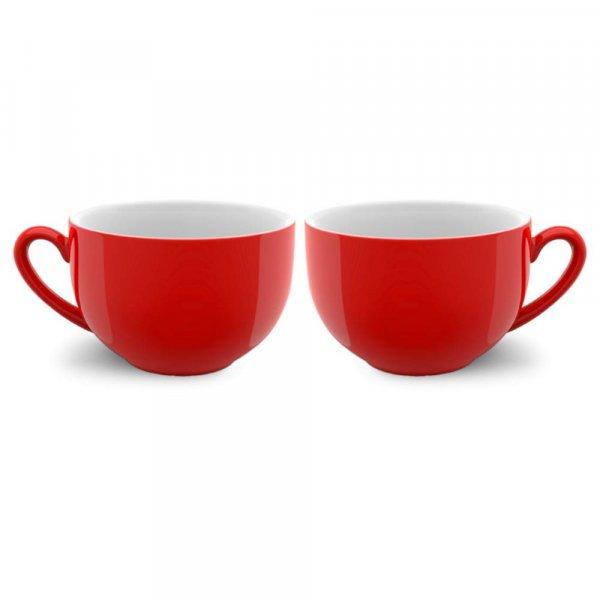 Indian Ceramic Jumbo Coffee Mug Soup Mug Maggie Mug - 400ML -  - Microwave Safe & Freezer Safe, Set of 2