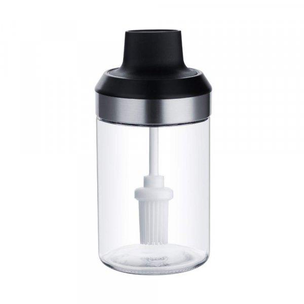 Borosilicate Glass Spoon Jar and Brush Jar - 250 ML - Set of 2